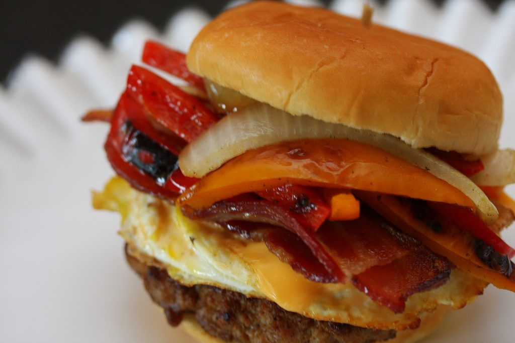 Cristen.Clark.pork.breakfast.sandwich.June.2014