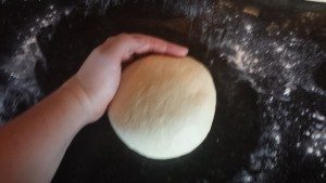 farmhouse bread dough prep