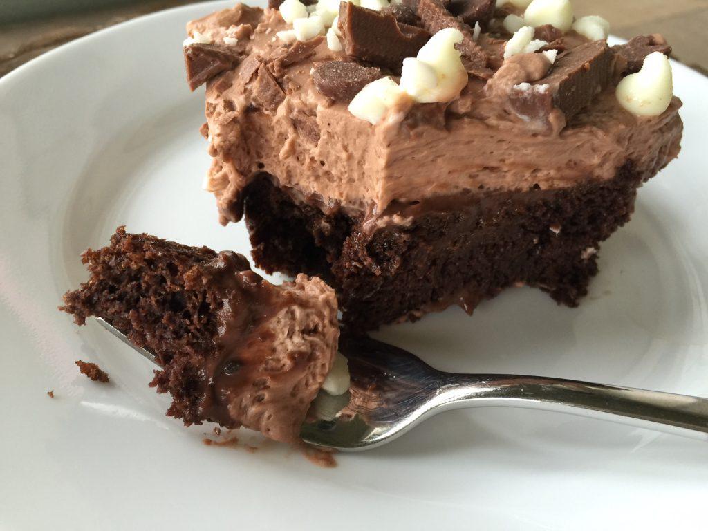 Chocolate Mousse Pudding Cake